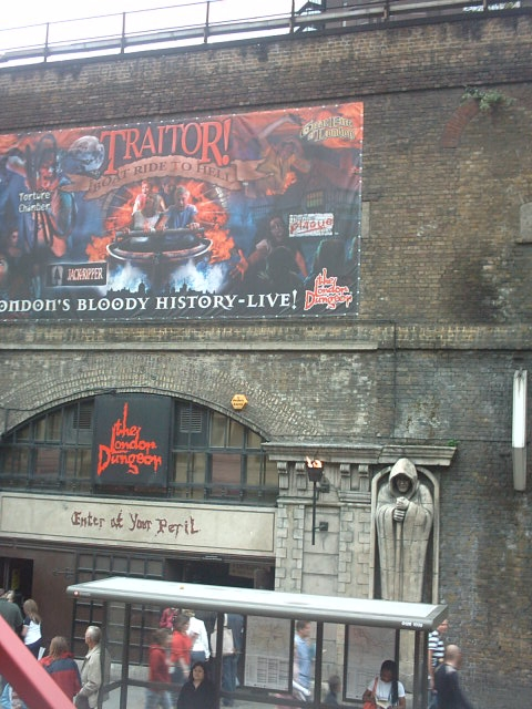 London Dungeon devant 2