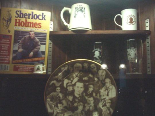Sherlock Holmes's Pub d'tail vitrine … l''tage