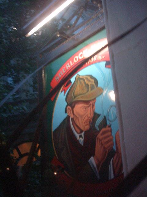 Sherlock Holmes's Pub-PEncarte vue de l'interieure
